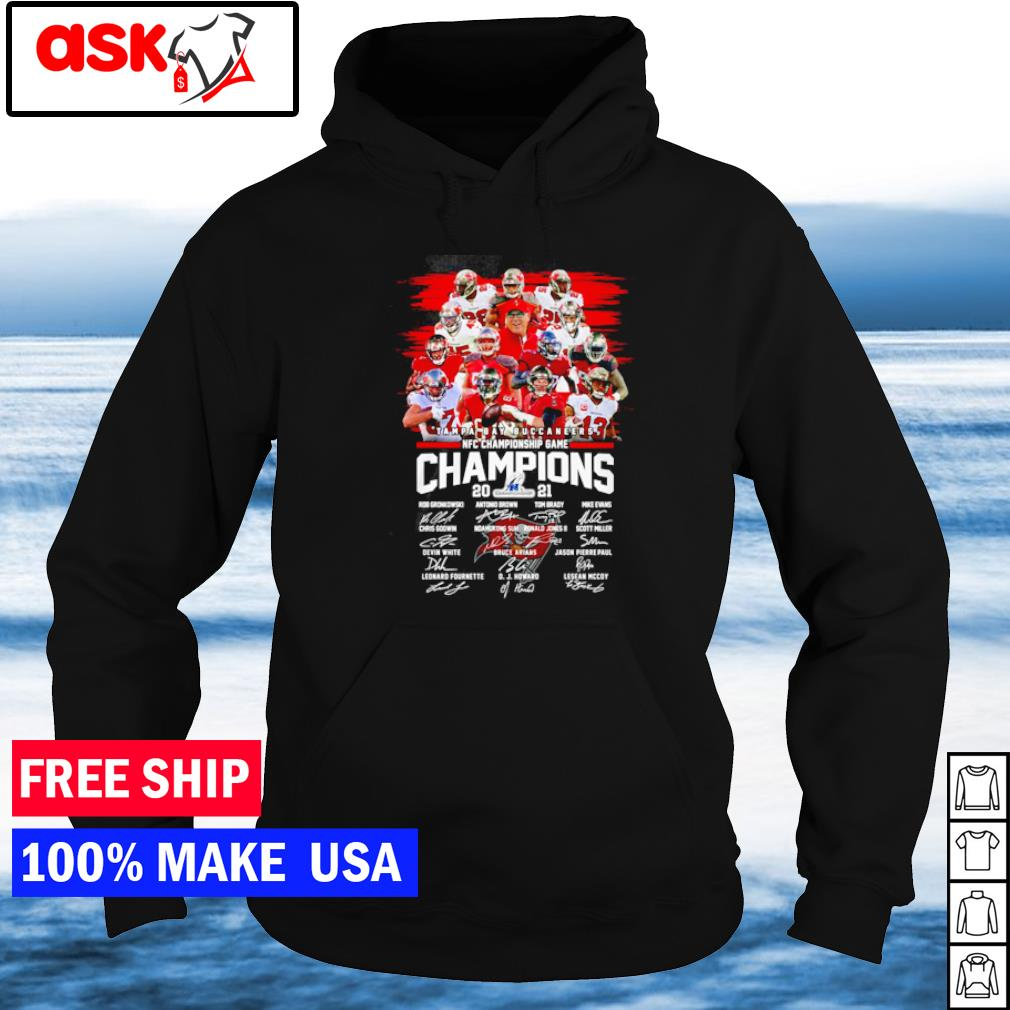 Tampa Bay Buccaneers NFC Championship Game 2021 signature s hoodie